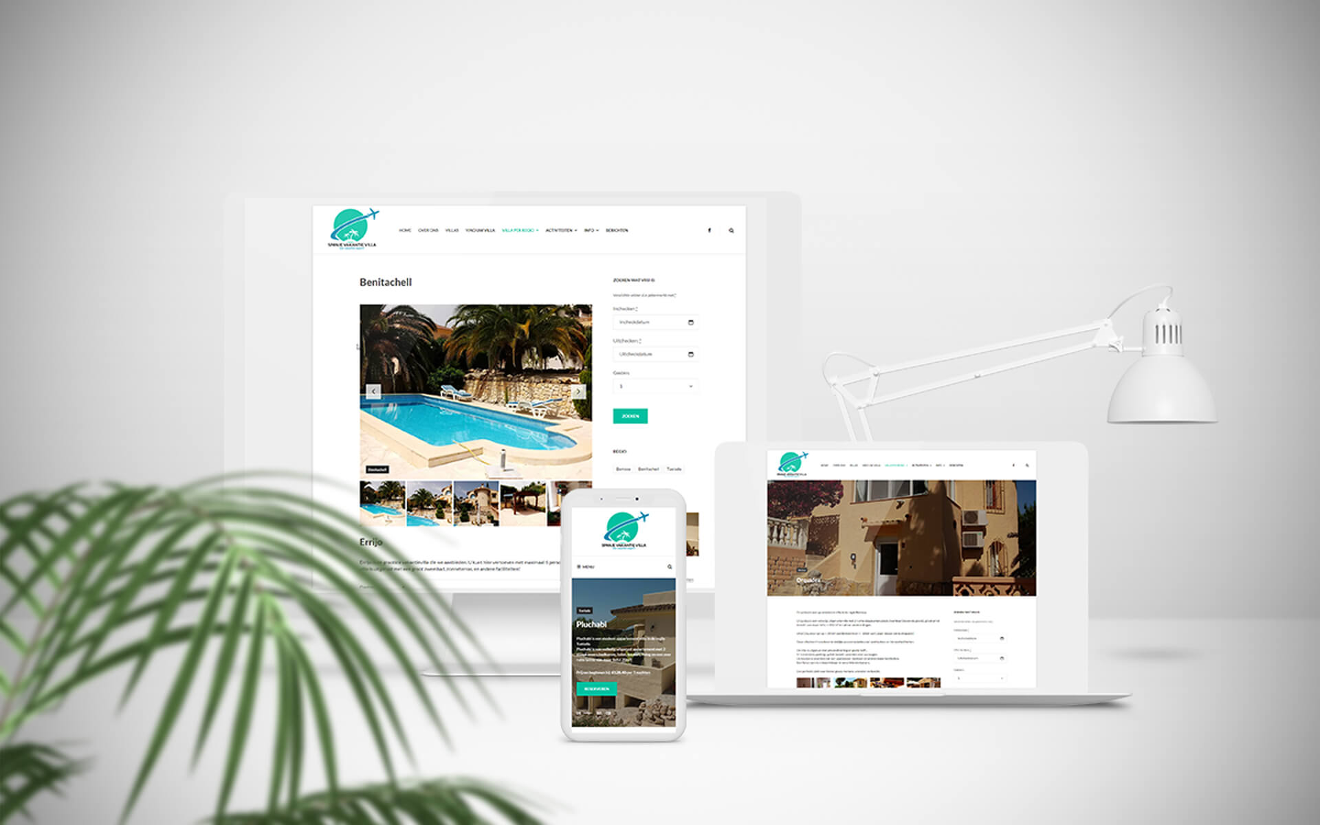 Spanjevakantievilla Webshark Webdesign